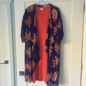 Lularoe Carly and Shirley Outfit M